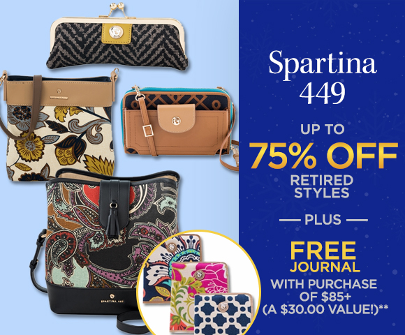 Spartina 449 - FREE Journal with Purchase of $85 - A $30.00 Value - Up to 75 Percent OFF Closeouts