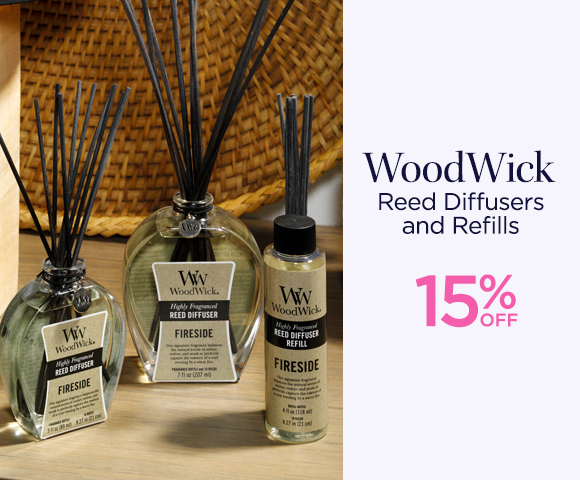 WoodWick - Reed Diffusers and Refills - 15 Percent OFF