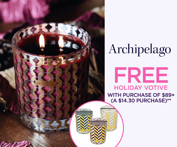 Archipelago - FREE Holiday Votive with Purchase of $89+ - A $14.30 Purchase**