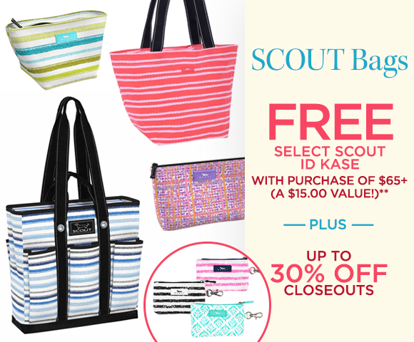 SCOUT Bags - FREE Select Scout ID Kase with Purchase of $65+ - A $15.00 Value** - Plus Up To 30 Percent OFF Closeouts