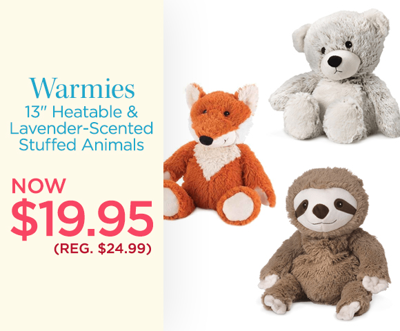 Warmies - 13 inch Heatable and Lavender-Scented Stuffed Animals - NOW $19.95 - Reg. $24.99
