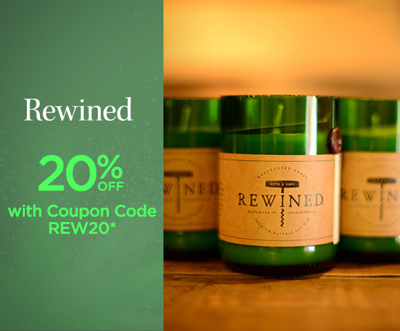 Rewined - 20 Percent OFF with Coupon Code REW20