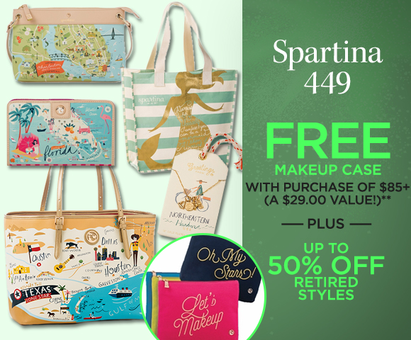 Spartina 449 - Plus FREE Makeup Case with Purchase of $85+ - A $29.00 Value - Up to 50 Percent OFF Retired Styles