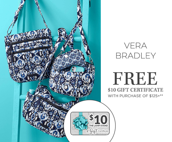 Vera Bradley - FREE $10 Gift Certificate with Purchase of $125+