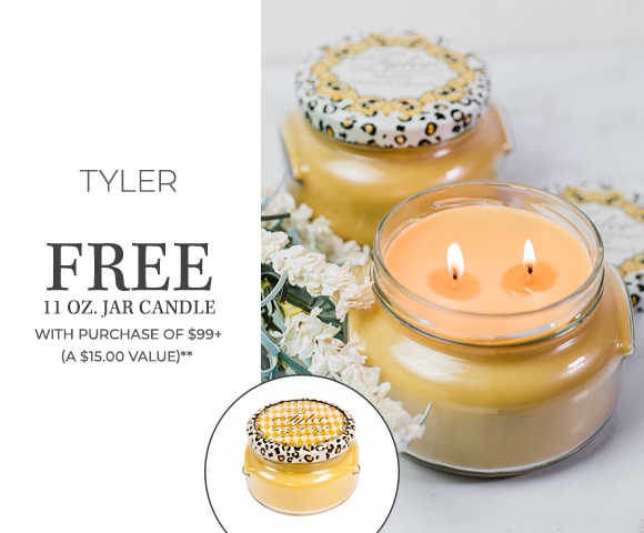 Tyler - FREE 11 Ounce Jar Candle with Purchase of $99+