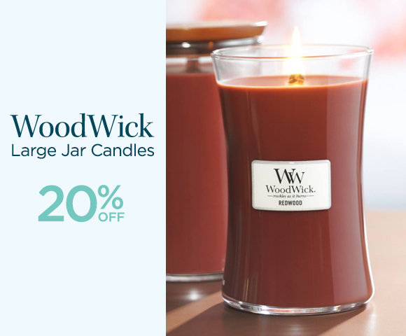 WoodWick - Large Jar Candles - 20% OFF