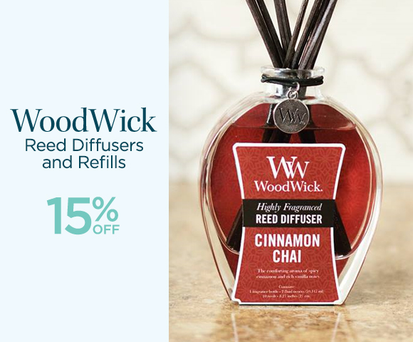 WoodWick - Reed Diffusers and Refills - 15% OFF