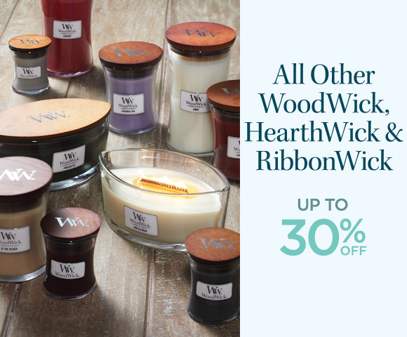 All Other WoodWick HearthWick & RibbonWick - Up To 30% OFF