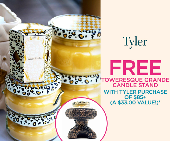 Tyler - FREE Toweresque Grande Candle Stand with Tyler Purchase of $85+ - A $33.00 Value*