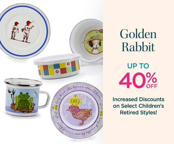Golden Rabbit - Up To 40% OFF - Increased Discounts on Select Children's Retired Styles!