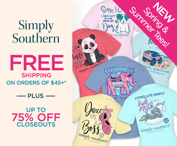 Simply Southern - New Spring & Summer Tees - FREE Shipping on Orders of $45+* - Plus Up To 75 Percent OFF Closeouts