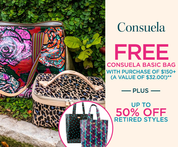 Consuela - FREE Consuela Basic Bag with Purchase of $150+ - A Value of $32.00** - Plus Up To 50 Percent OFF Retired Styles