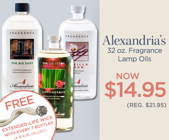 Alexandrias 32 Ounce Fragrance Lamp Oils - NOW $14.95 - Reg. $21.95