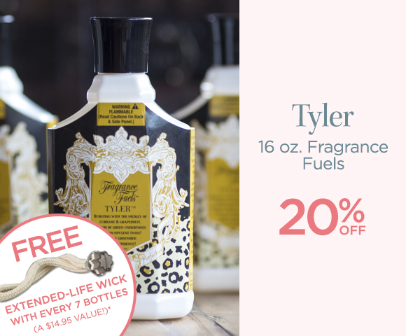 Tyler - 16 Ounces Fragrance Fuels - 20 Percent OFF - *add free-wick offer