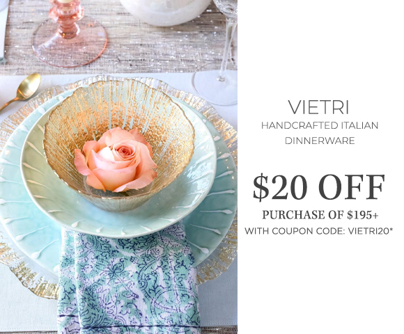 Vietri - Handcrafted Italian Dinnerware - $20 OFF purchase of $195+ with coupon code VIETRI20*