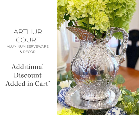 Arthur Court - Aluminum Serveware and D�cor - Additional Discount Added in Cart
