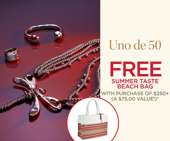 Uno de 50 - FREE Summer Taste Beach Bag with Purchase of $250+ - A $75.00 Value*