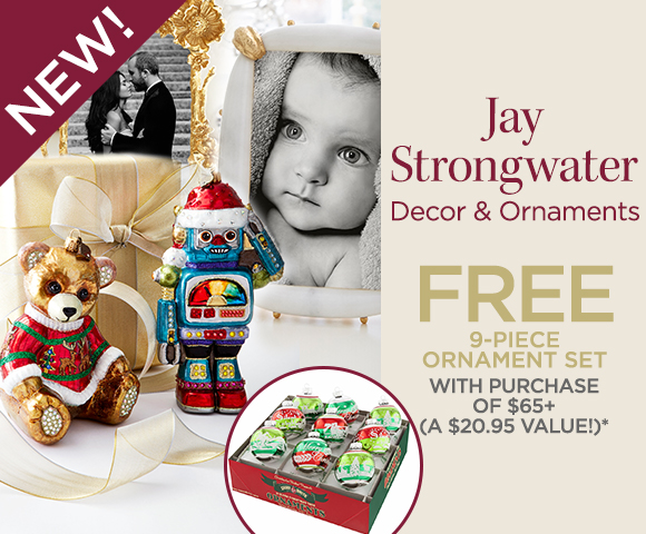 Jay Strongwater - NEW - FREE 9-Piece Ornament Set with Purchase of $65+ - A $20.95 Value