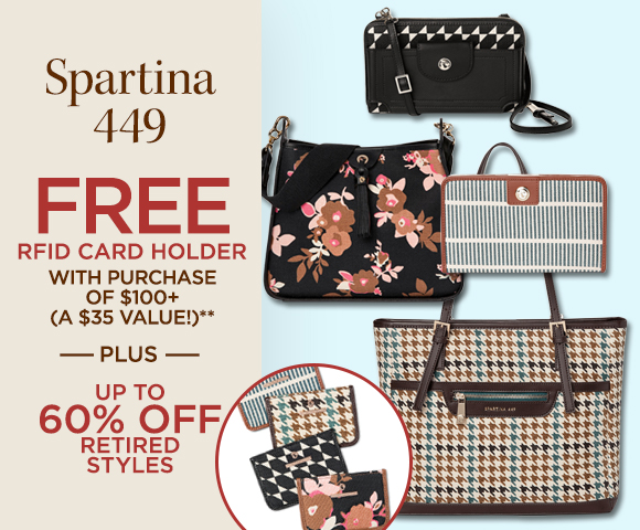Spartina 449 - FREE RFID Card Holder with purchase of $100+ - A $35 Value - Plus Up To 60 Percent OFF Retired Styles