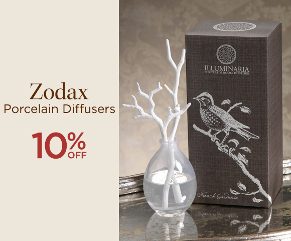 Zodax Porcelain Diffusers - 10 Percent OFF