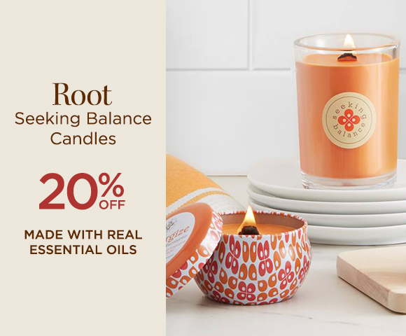 Root Seeking Balance Candles - Made with Real Essential Oils - 20 Percent OFF
