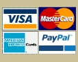 We accept MasterCard, Visa, American Express and PayPal