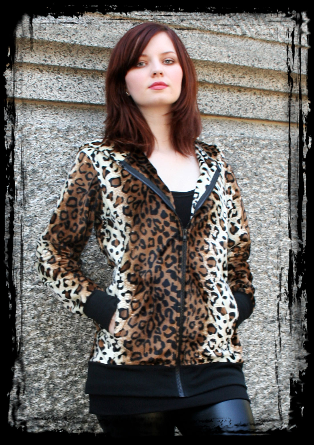 Oversized Leopard Hoodie Full View