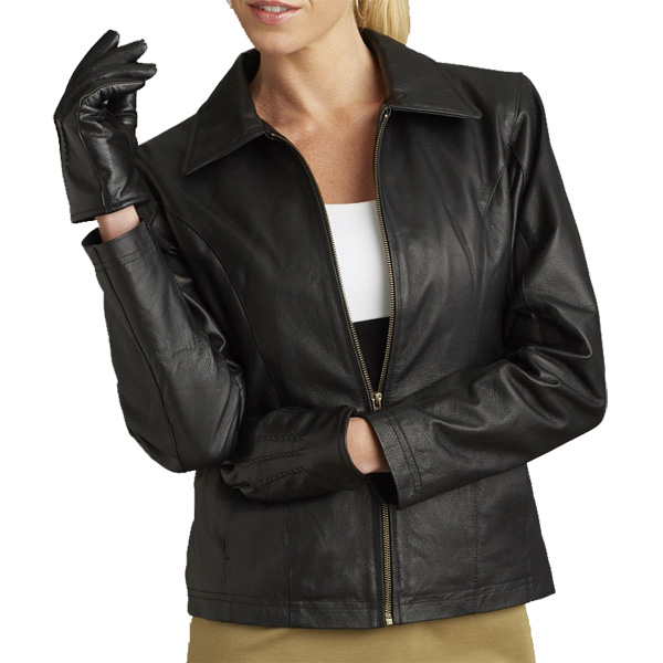Bullet Blocker Bulletproof NIJ 3A Woman's Leather