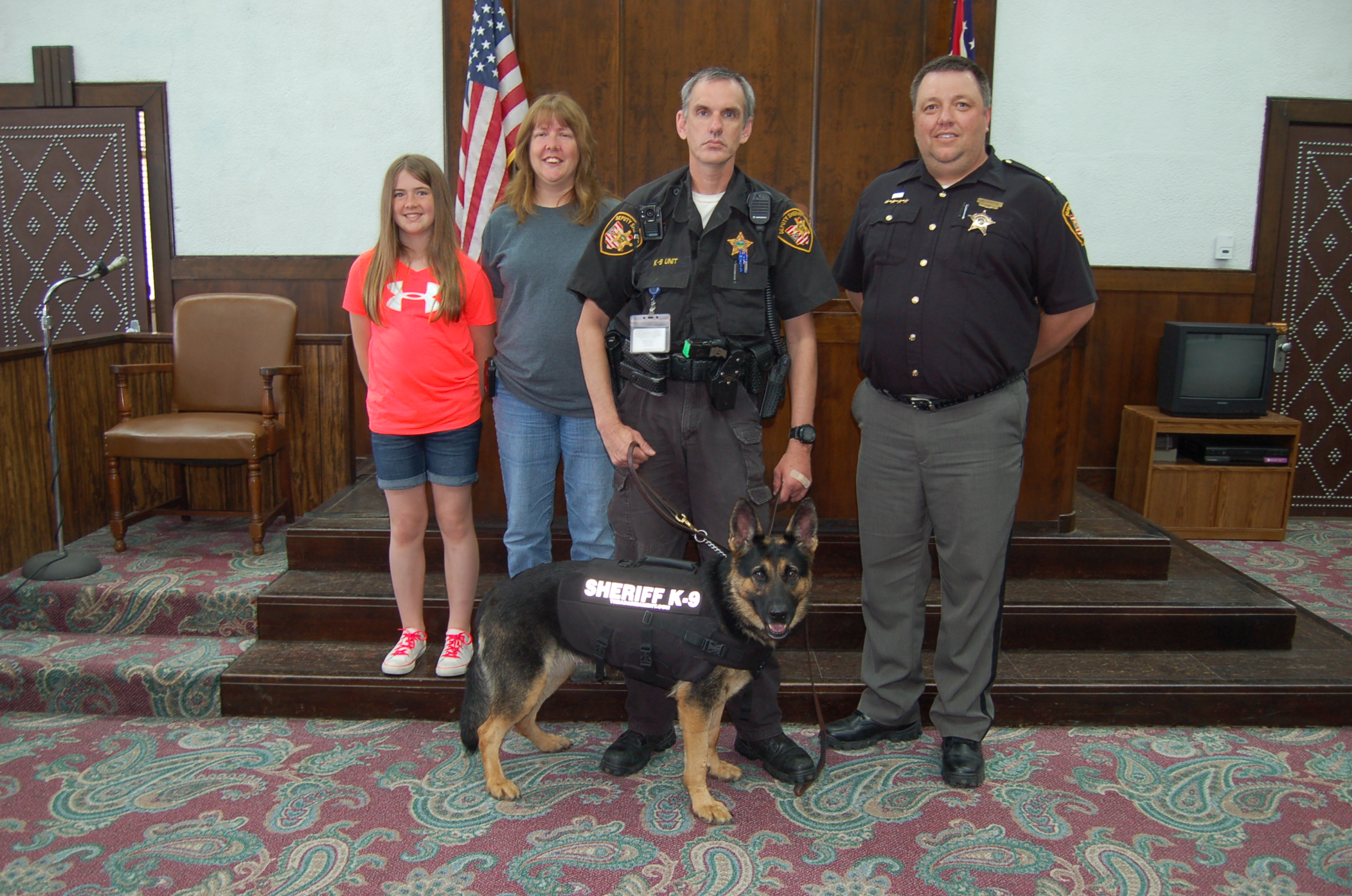 "K9 ""Barbie"" from Vinton County with some of her friends!"