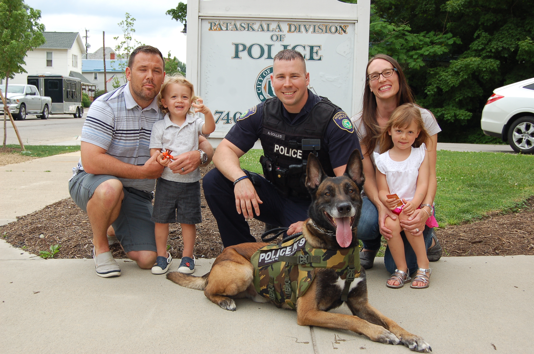 "K9 ""Mutin"" with his friends and family from Pataskala Police Department"