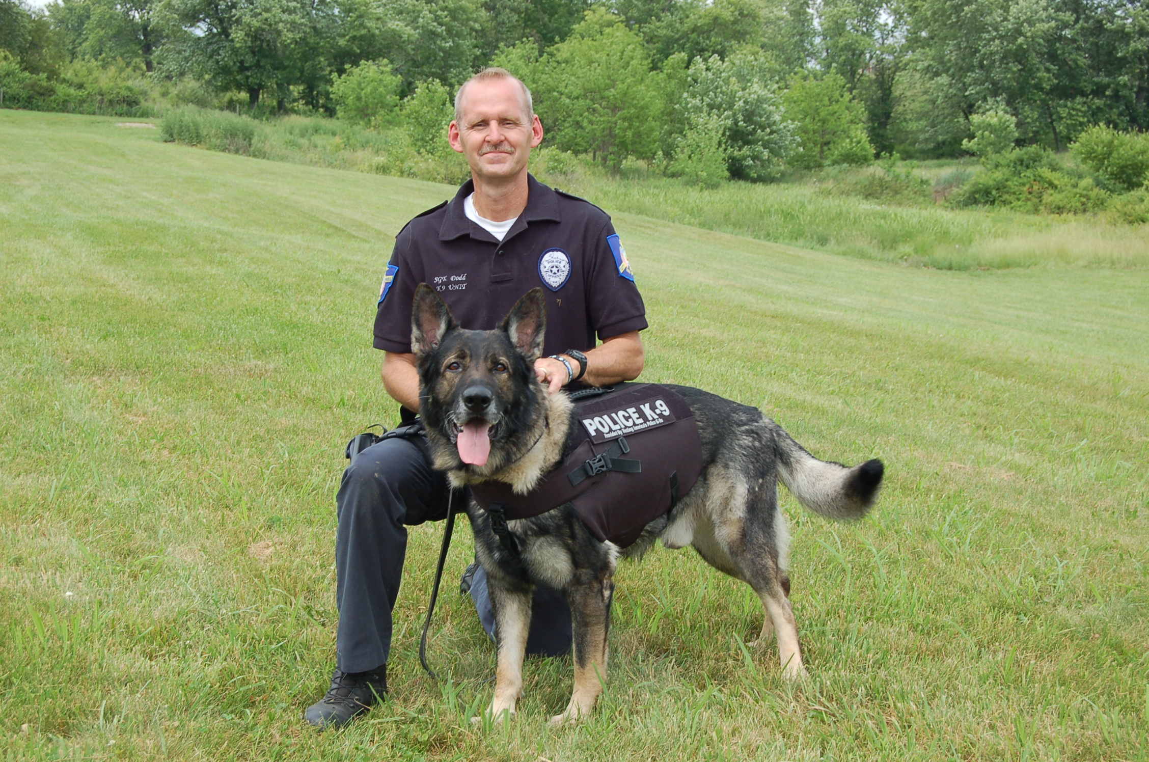 "K9 ""Tazer"" from New Lexington Police Department"