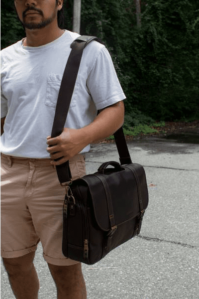 Messenger bag with model