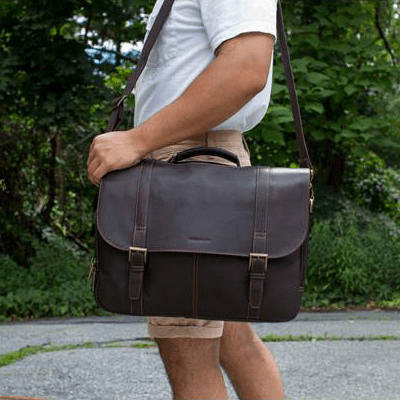 messenger bag with model 2