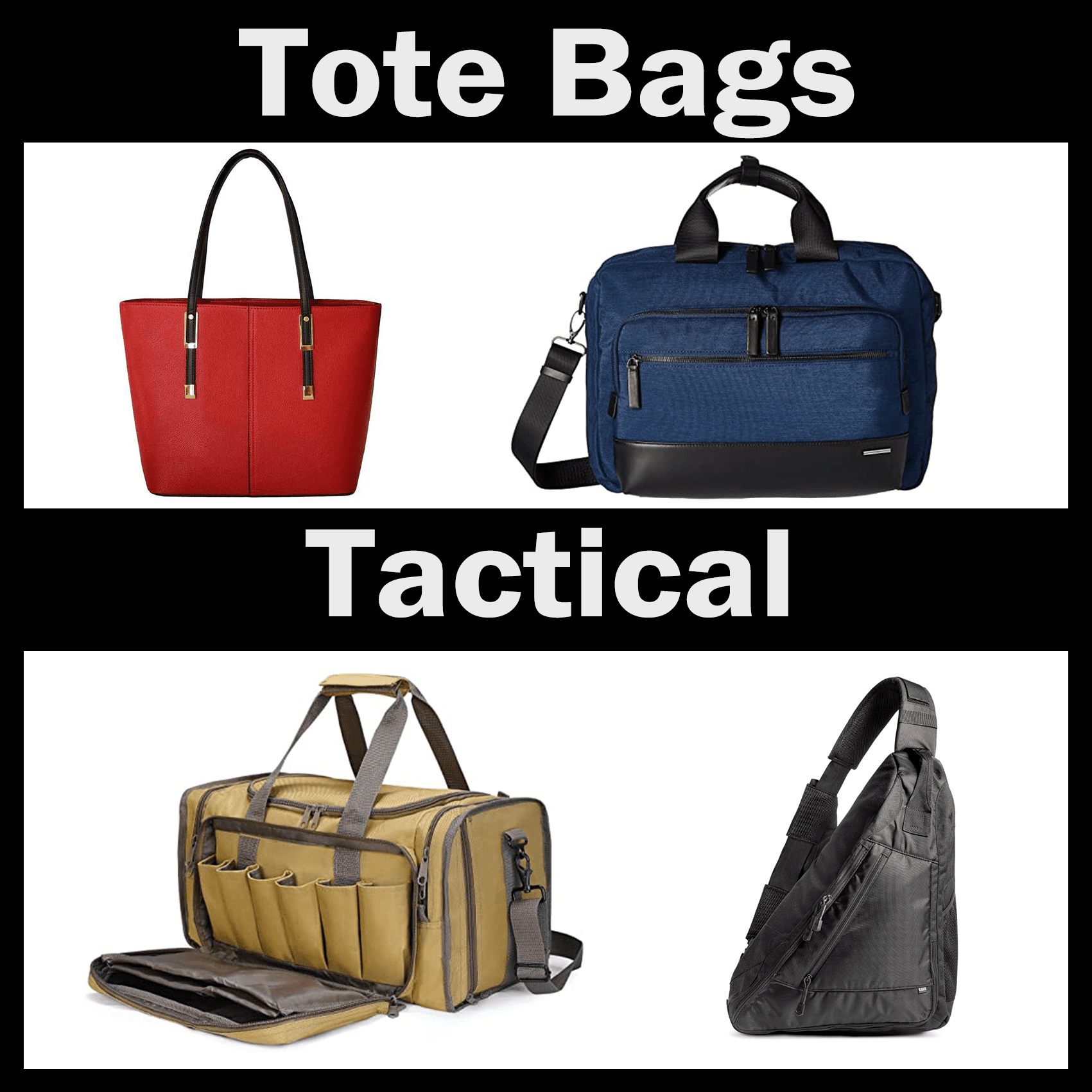 Fit any tote or tactical pack!
