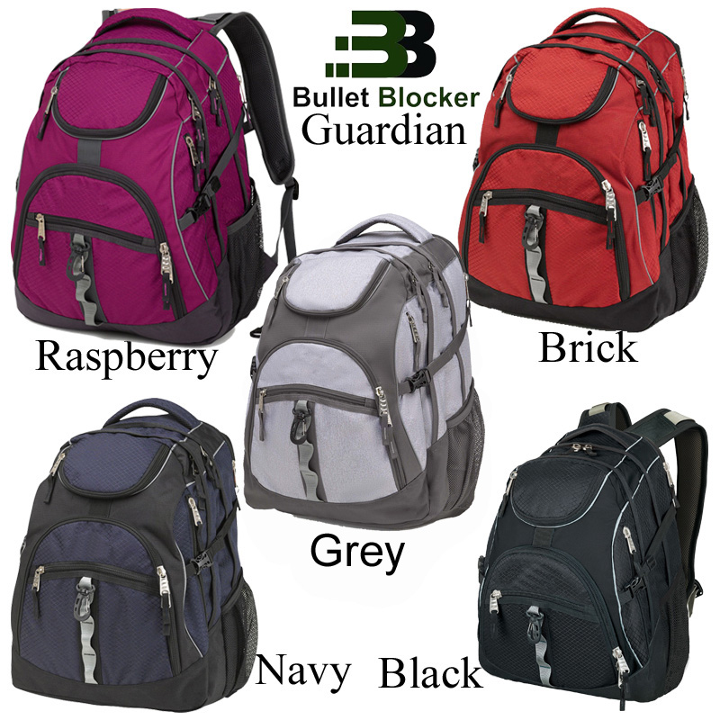 BulletBlocker NIJ IIIA Bulletproof Guardian Backpack Colors