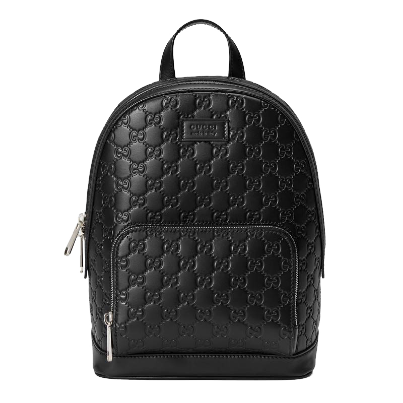 Gucci Signature Leather Backpack Black