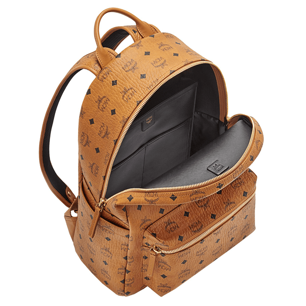 MCM Stark Classic Backpack Cognac