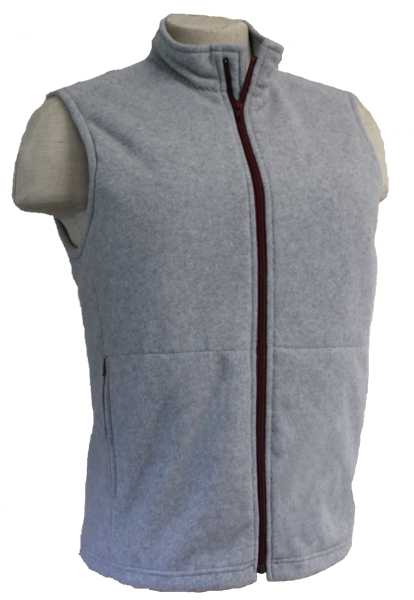 Heather Grey with Bordeaux Zipper