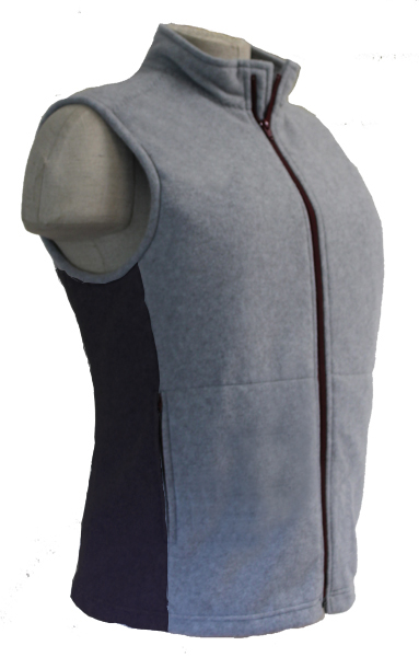 Heather Grey with Bordeaux Zipper Black Side Panel