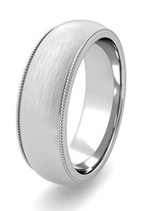 Brushed Finish Wedding Bands at My Love Wedding Ring