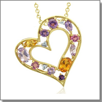Citrine Heart Necklace at My Love Wedding Ring