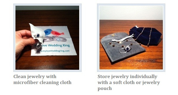 Clean and store jewelry correctly with My Love Wedding Ring jewelry care kit