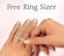 Find your ring size with free ring sizer from my love wedding ring
