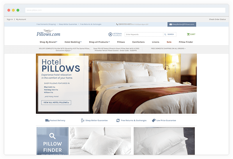 Pillows Ecommerce Yahoo Small Business